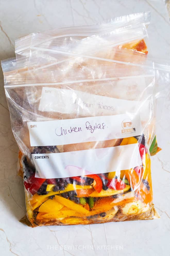 freezer chicken fajitas dump dinner recipe