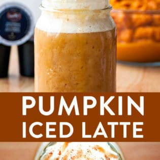 pumpkin iced latte recipe