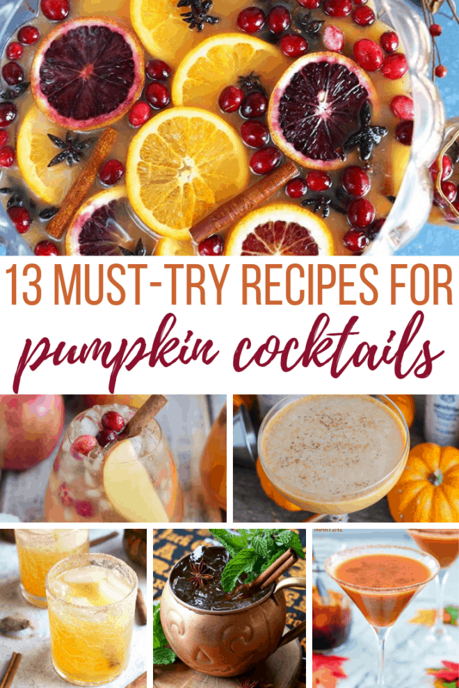 must try recipes from pumpkin cocktails