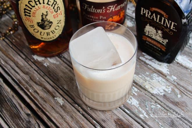 praline whiskey pumpkin pie cocktail