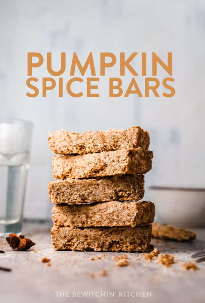 pumpkin spice bars recipe with oats