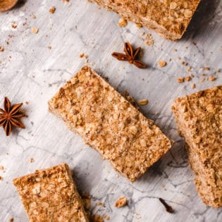 crunchy pumpkin spice oatmeal bars
