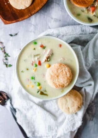 chicken pot pie soup gluten free