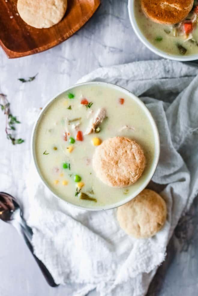 chicken pot pie soup gluten free recipe