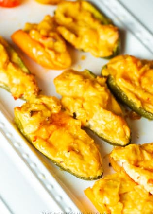 sweet thai chili chicken stuffed poppers