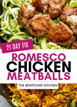 21 day fix romesco chicken meatballs
