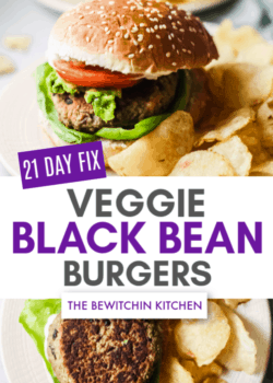 21 Day Fix Veggie Black Bean Burgers