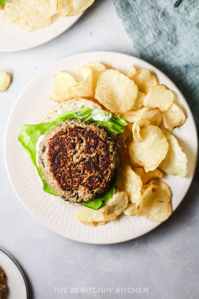 black bean burgers made with no mushrooms