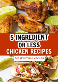 5 ingredient or less chicken recipes