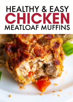 healthy chicken meatloaf muffins