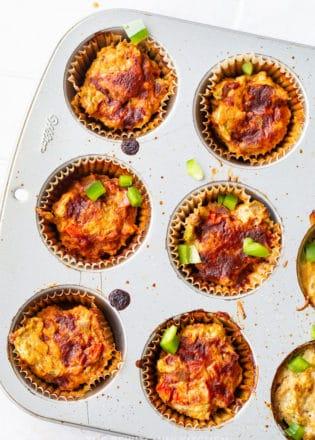 Veggie chicken meatloaf muffins