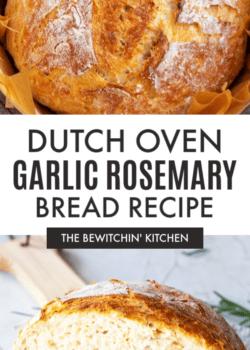 Dutch Oven Garlic Rosemary Bread