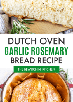 Dutch Oven Garlic Rosemary Bread Recipe