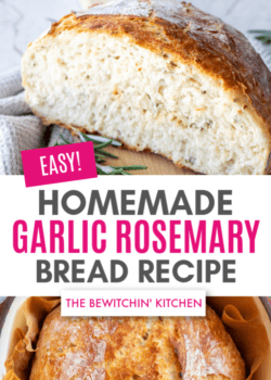 easy homemade garlic rosemary bread recipe