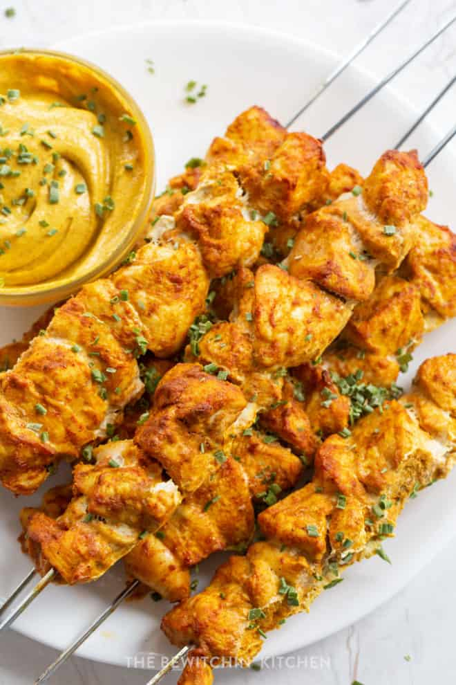 Smoky Curry Chicken Kebabs The Bewitchin Kitchen