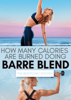 how many calories are burned doing barre blend