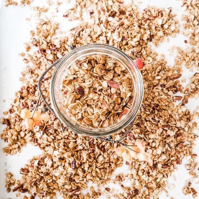 Easy Homemade Pumpkin Spice Granola