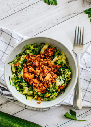 Zucchini Noodles with Bolognese Sauce